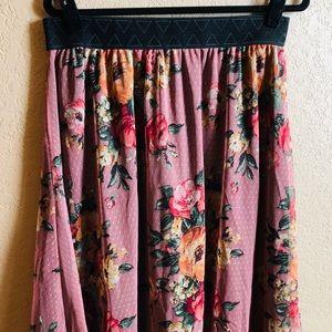 Lularoe Lola Floral Skirt !
